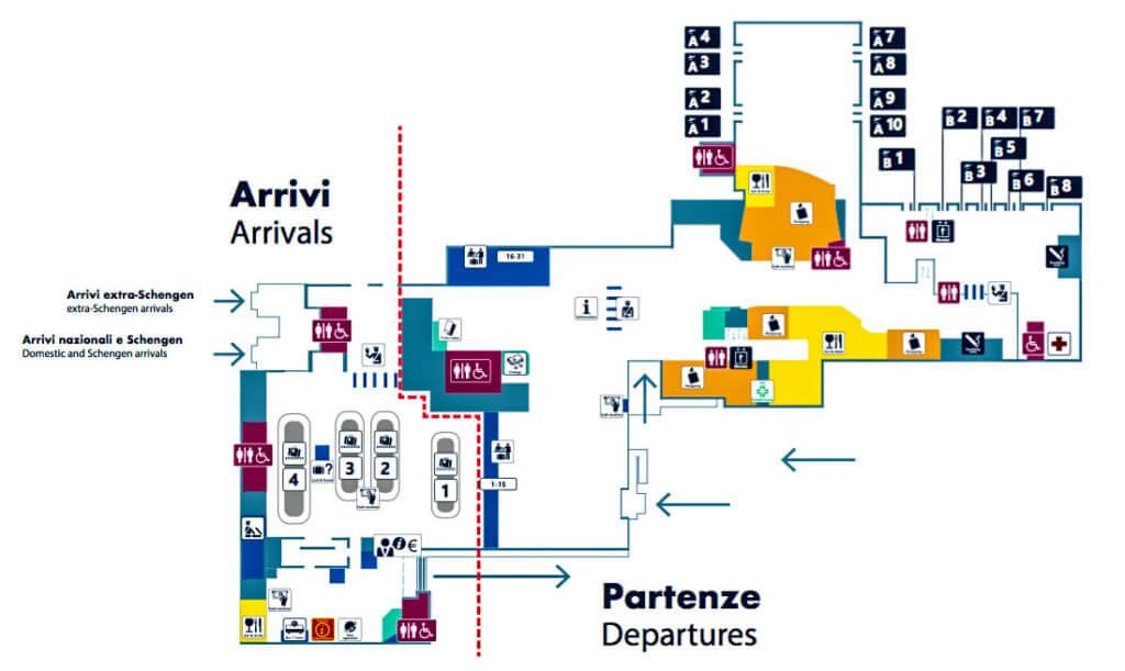 План аэропорта Чампино