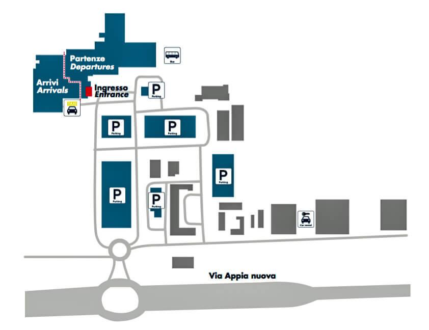 Схема территории аэропорта Чампино
