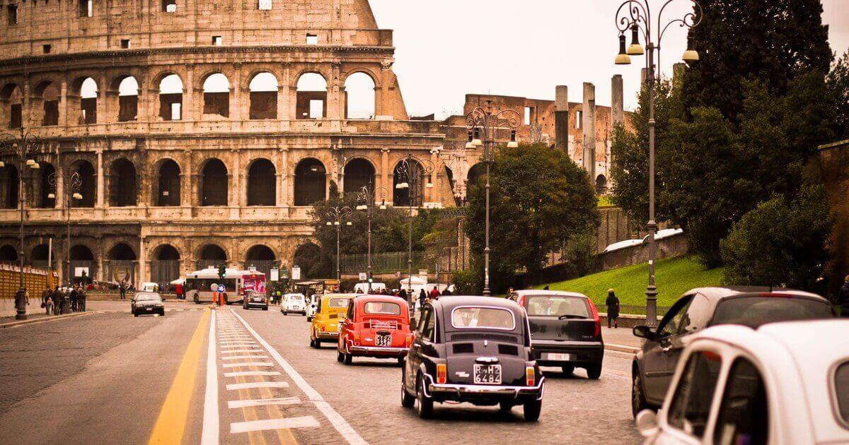 На автомобиле по Риму