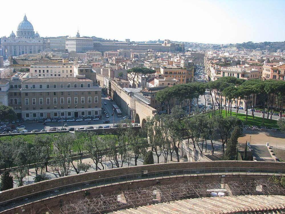 Вид на Рим с Замка Святого Ангела