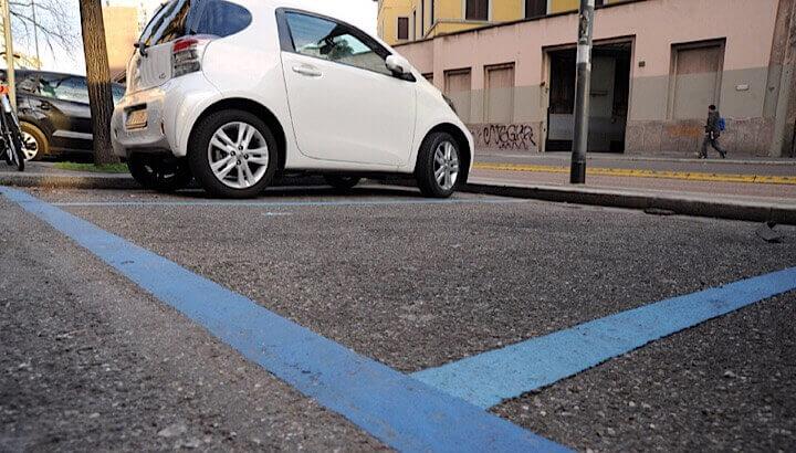 Зона платной парковки в Риме