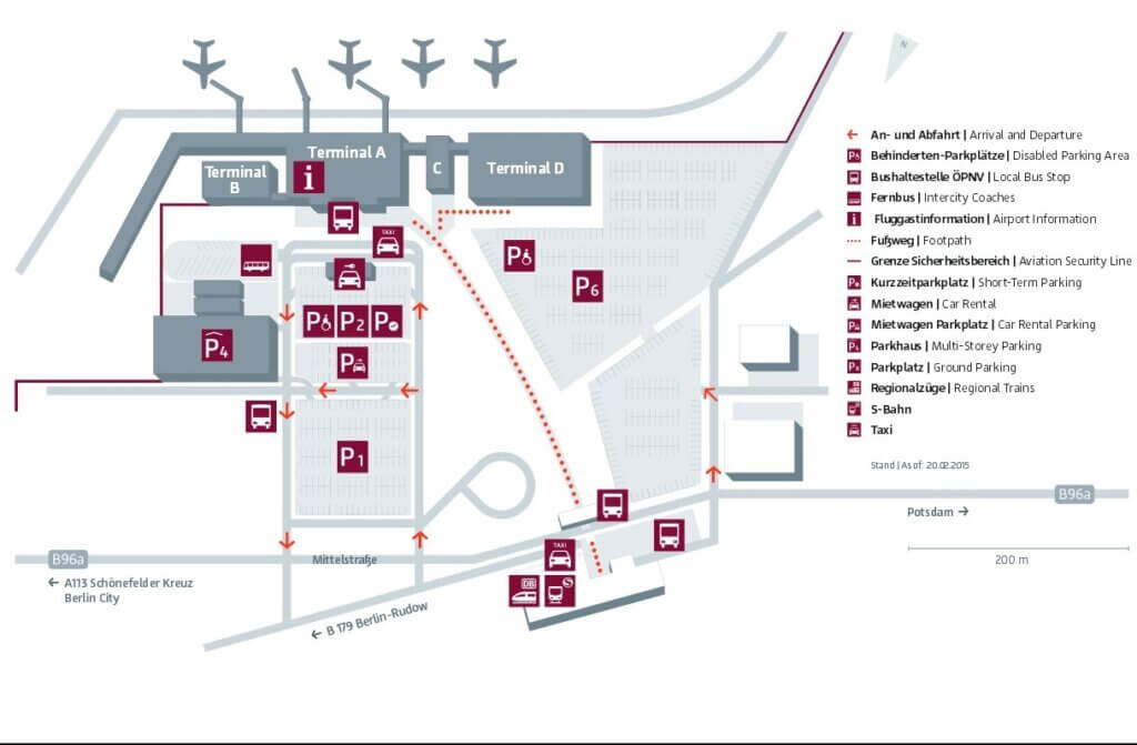 Схема аэропорта Шенефельд