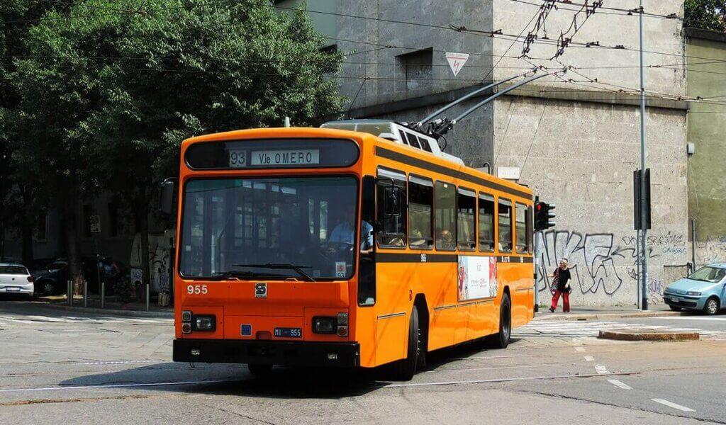 Троллейбус Милана