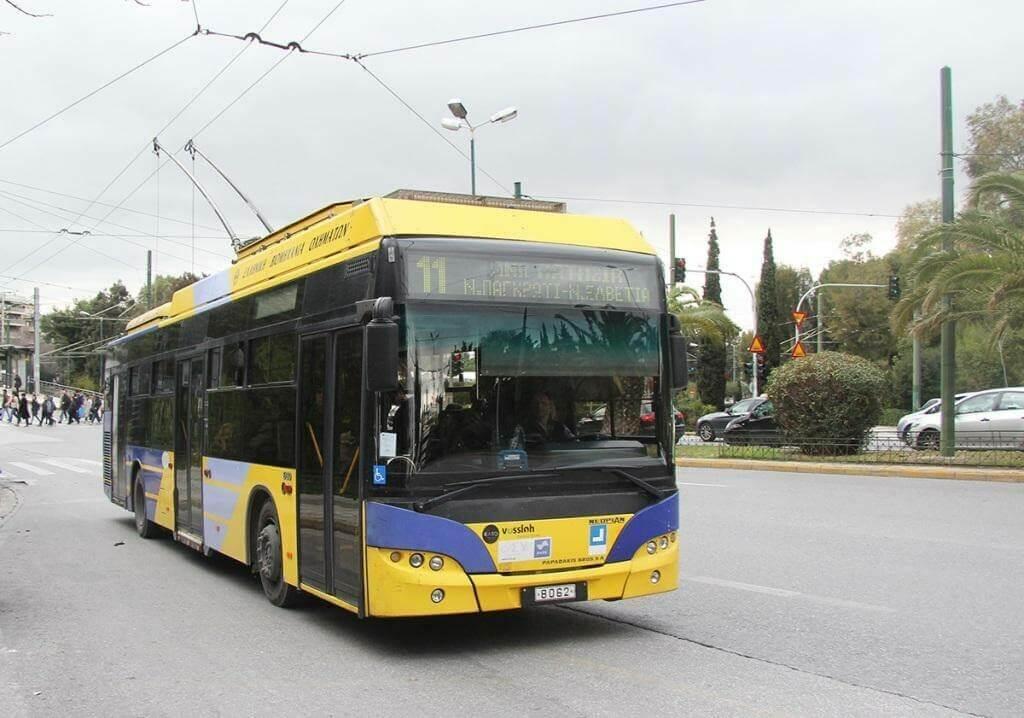 Троллейбус в Афинах