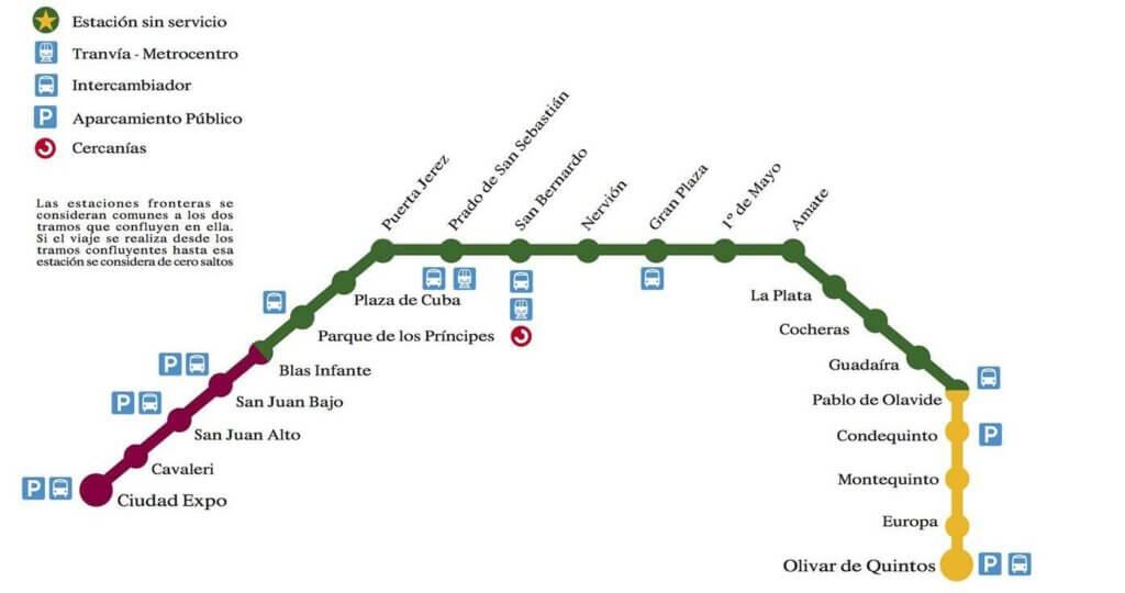 Схема метро Севильи
