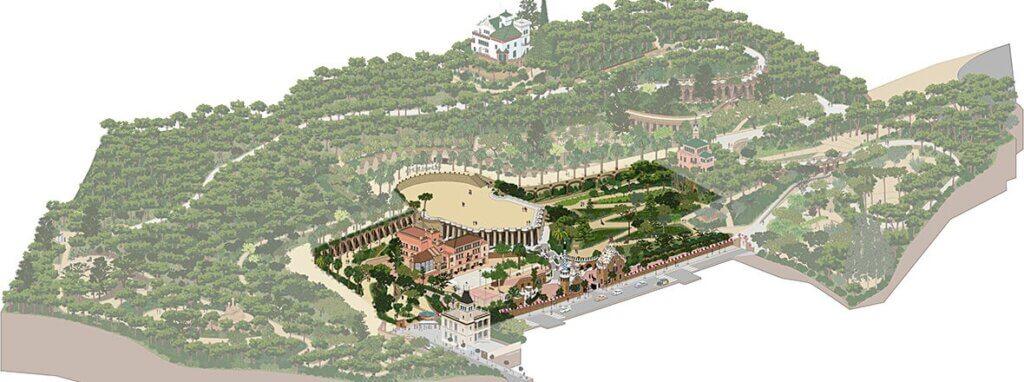 Схема парка Гуэль