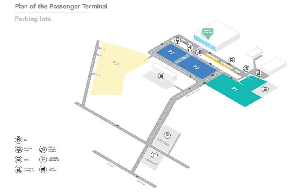 Схема парковки в аэропорту Каунаса