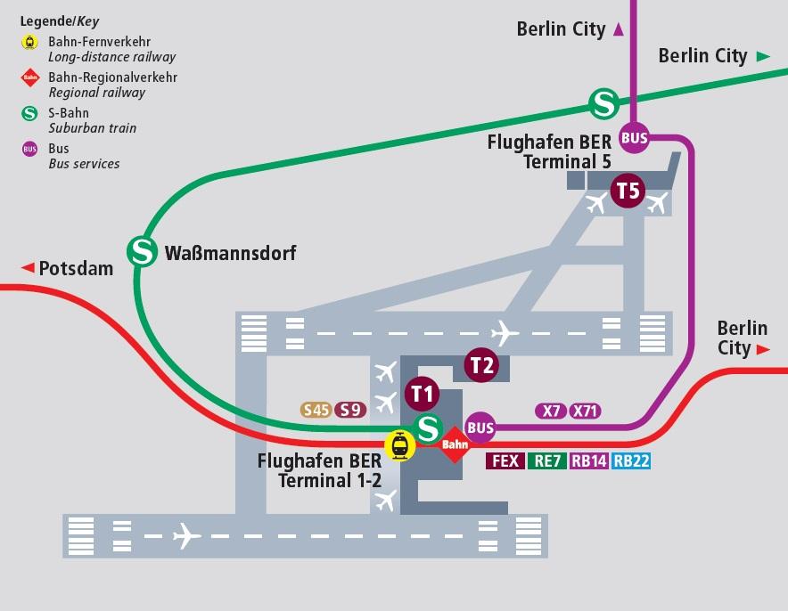 Транспорт между терминалами аэропорта Бранденбург