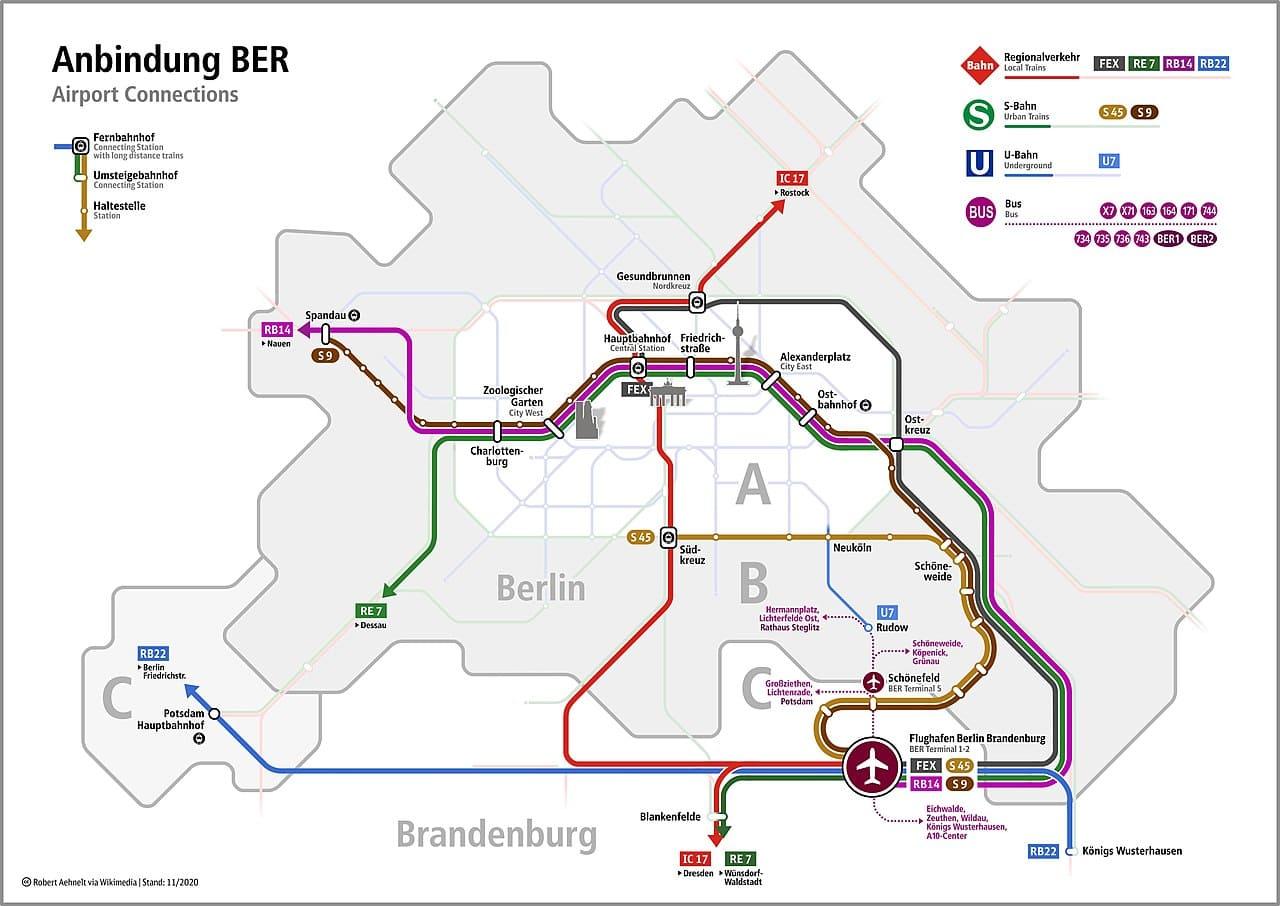 Транспорт в аэропорт Бранденбург
