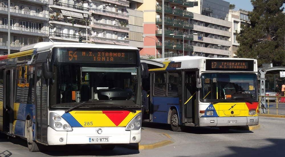 Автобусы в Салониках