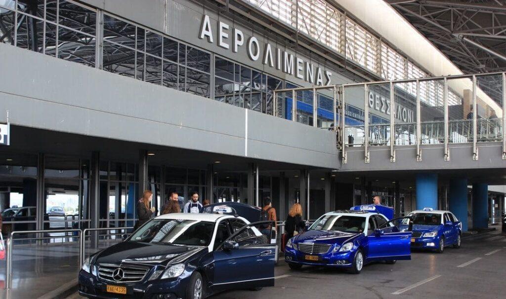 Такси в аэропорту Македония