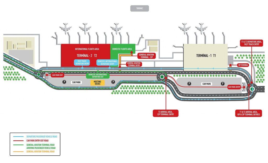 Схема аэропорта Даламан